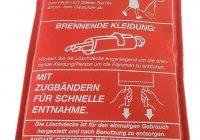 Brandschutzdecke, Löschdecke, Hitze, Feuer, Feuerbekämpfung, Entstehungsbrand eindämmen, Brandschutzdecke